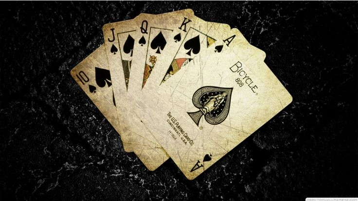 Cards Poker The Game Digital Art Ace Of Spades Card Game Dark Background Play 852×480 Wallpaper