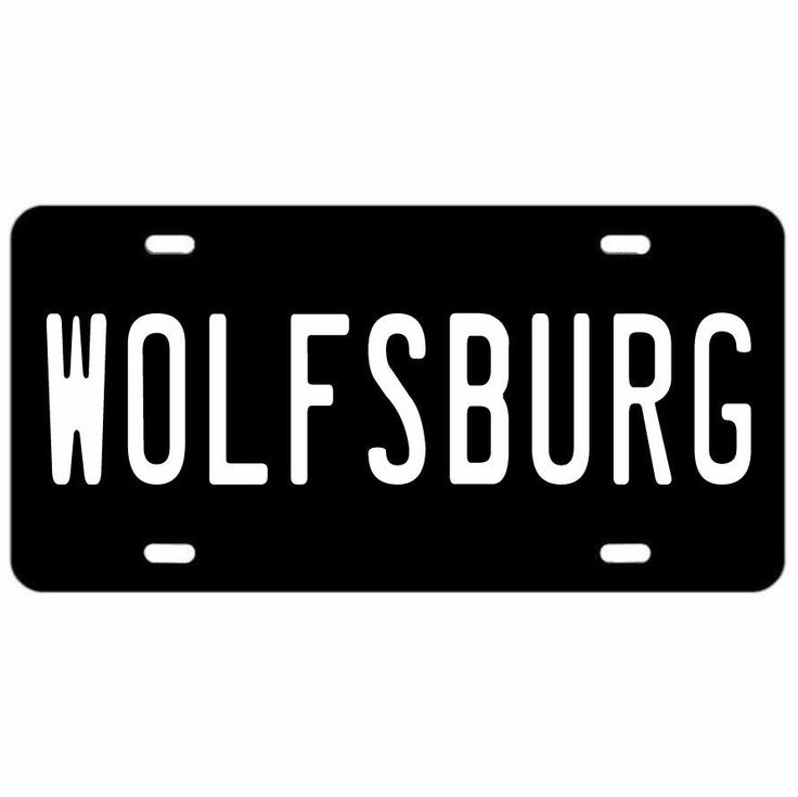 Nice Great WOLFSBURG SHIELD VANITY LICENSE PLATE VOLKSWAGEN VW TUNER GOLF  GTI JETTA PASSAT 2017-