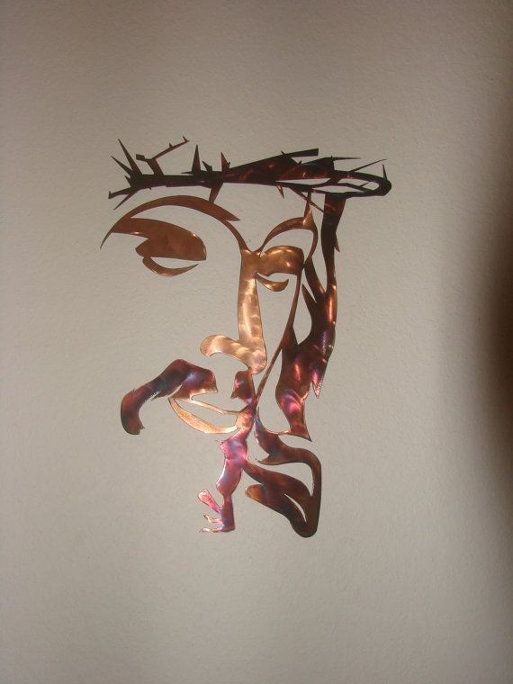 Jesus Crown of Thorns Patina 16 Gauge Metal by Metalheadartdesign, $52.50