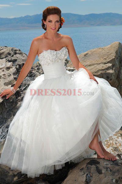 Beach Wedding Dress Weddings Dresses Colors Flower Girl Pinte