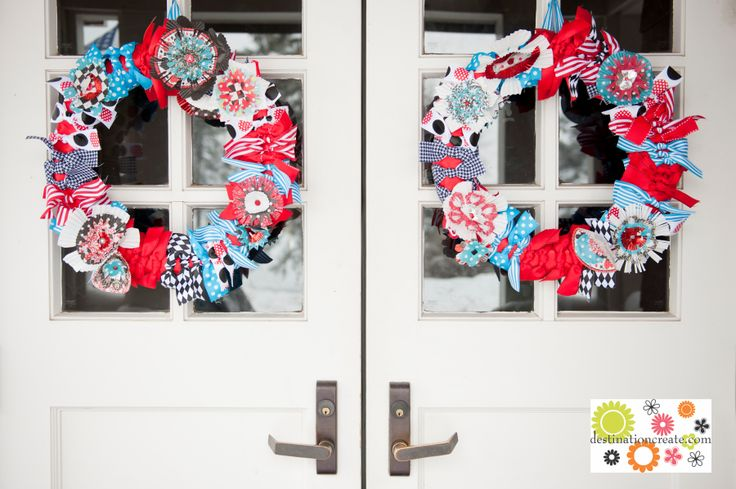 Wedding Wreaths made from cupcake liners | destinationcreate.com