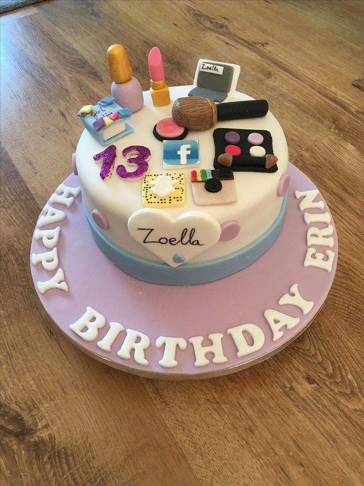 Zoella theme birthday cake for 13 year old
