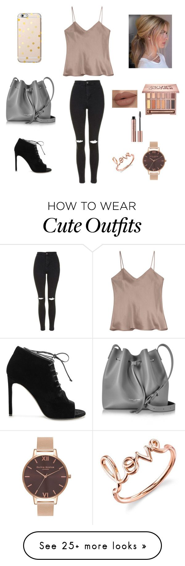 """""""Cute outfit"""" by stuff4m on Polyvore featuring Etro, Topshop, Lancaster, Yves Saint Laurent, Urban Decay, Sydney Evan and Olivia Burton"""