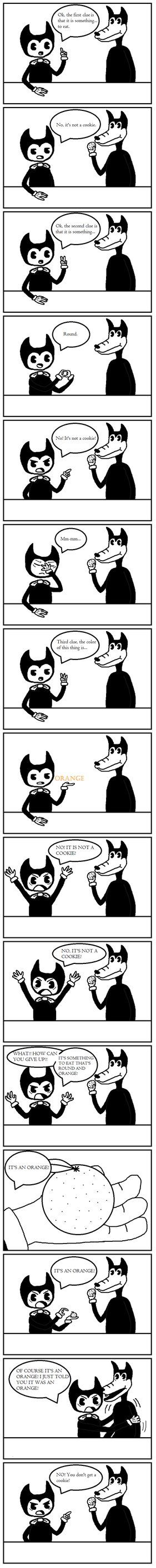 Bendy and the Ink Machine Comic - It's an Orange! by RinnyRobin