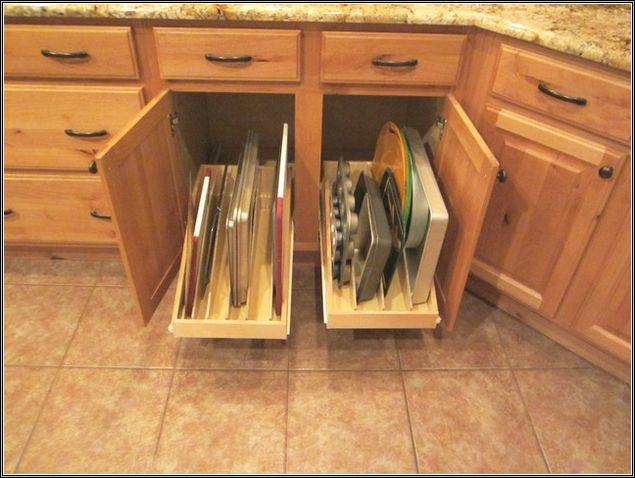 Kitchen Cookie Sheet Organizer Kitchen Cabinet Storage