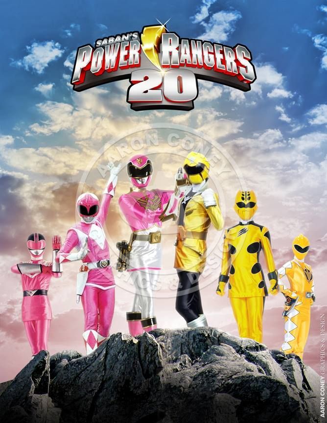 My daughter is a huge Power Rangers fan, so with today's news of the forthcoming Power Rangers movie, this seemed like a good way to celebrate. :-)   8 x 10 glossy print of a team of legendary Pink and Yellow Power Rangers, in honor of the 20th anniversary Power Rangers Super Megaforce, and the legendary war.
