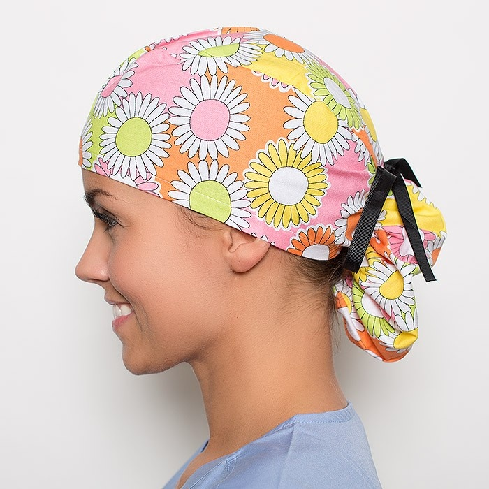 Dancing Daisies Pony Scrub Hat Ponies Different