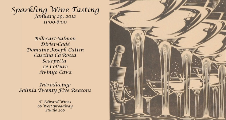 Invite to T. Edward Wine's Sparkling Wine Tasting