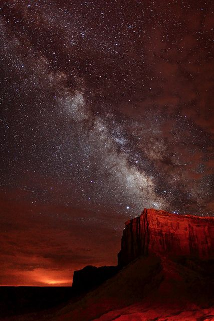 The Milky Way Over Monument Valley   Flickr - Photo Sharing!