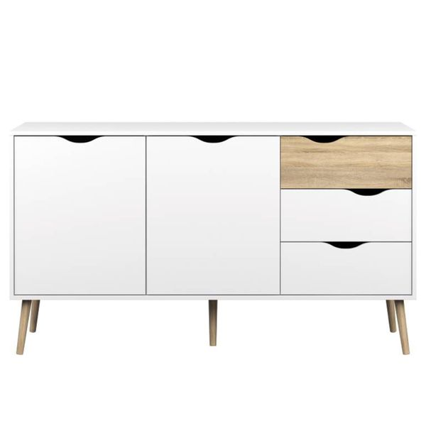 Diana White Oak 5-drawer Sideboard | Overstock.com Shopping - The Best Deals on Buffets
