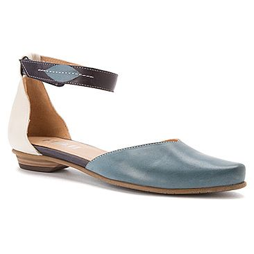 These blue and white Fidji shoes are pretty cute... love the ankle strap.