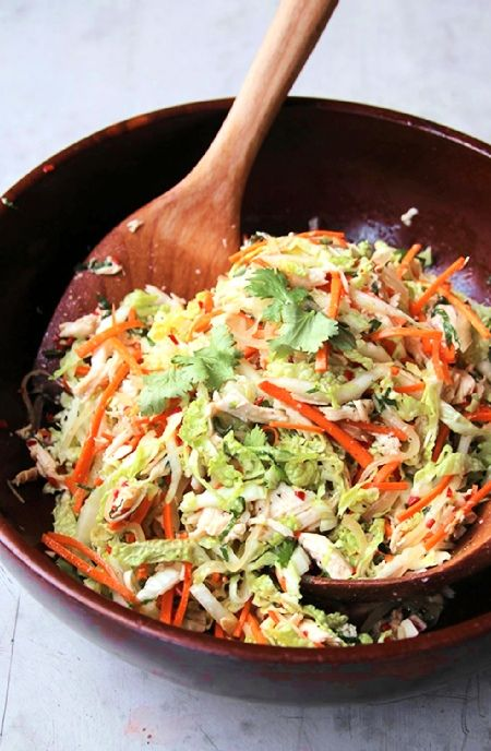 Low FODMAP Recipe and Gluten Free Recipe - Shredded chicken salad http://www.ibs-health.com/low_fodmap_shredded_chicken_salad.html