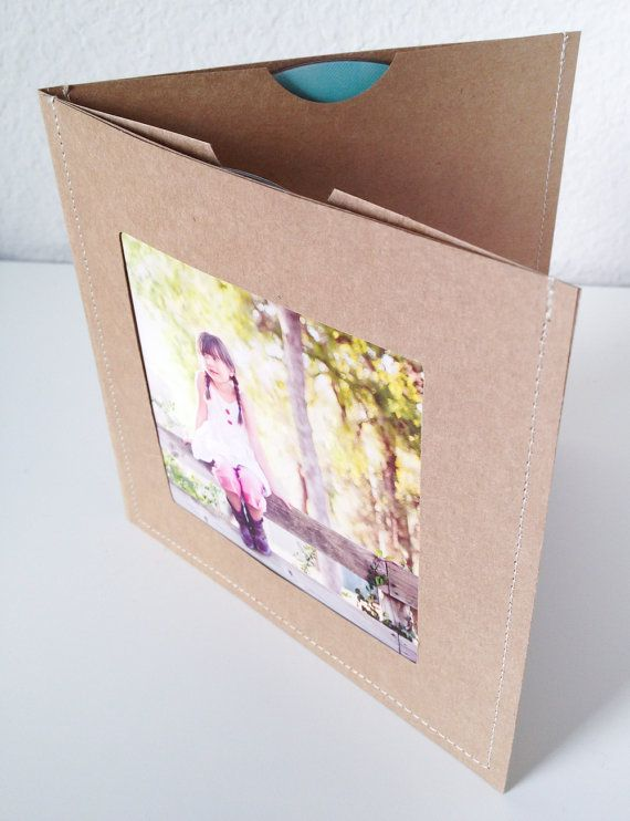 Estuches de DVD / mangas Set de 8 marrón doble por paperyourday