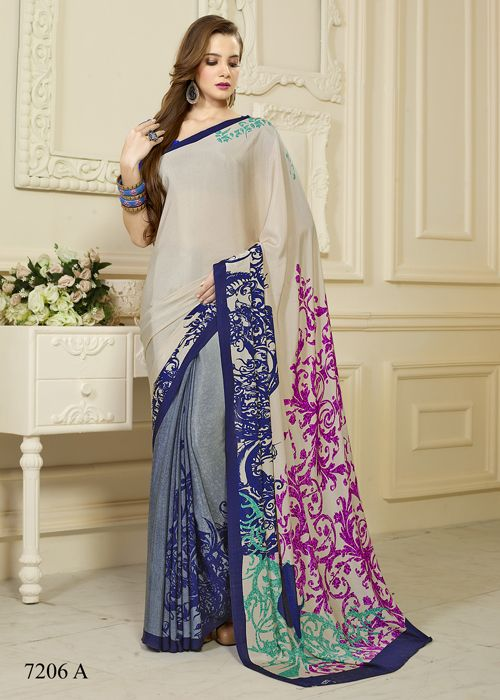 Latest Printed Saree collections on www.sulbha.com