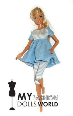 Ubranka dla lalki Barbie- ULEŃKA 2 -komplet
