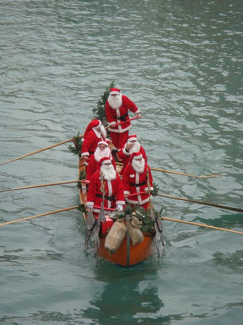 Who needs reindeer in Venice? This gondola ride includes the Santas singing Christmas carols to you in Italian.