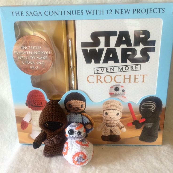 So happy to have the Star Wars Even More Crochet kit! I've already finished the Jawa and BB-8 since the kit came with those supplies. Cannot wait to crochet more! #starwars #crochet #amigurumi #bb8 #lucyravenscar #jawa #crochetlove #crafty #create