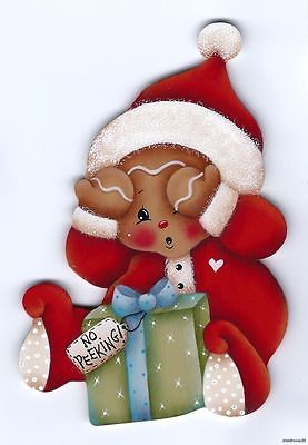 GINGERBREAD No Peeking! FRIDGE MAGNET