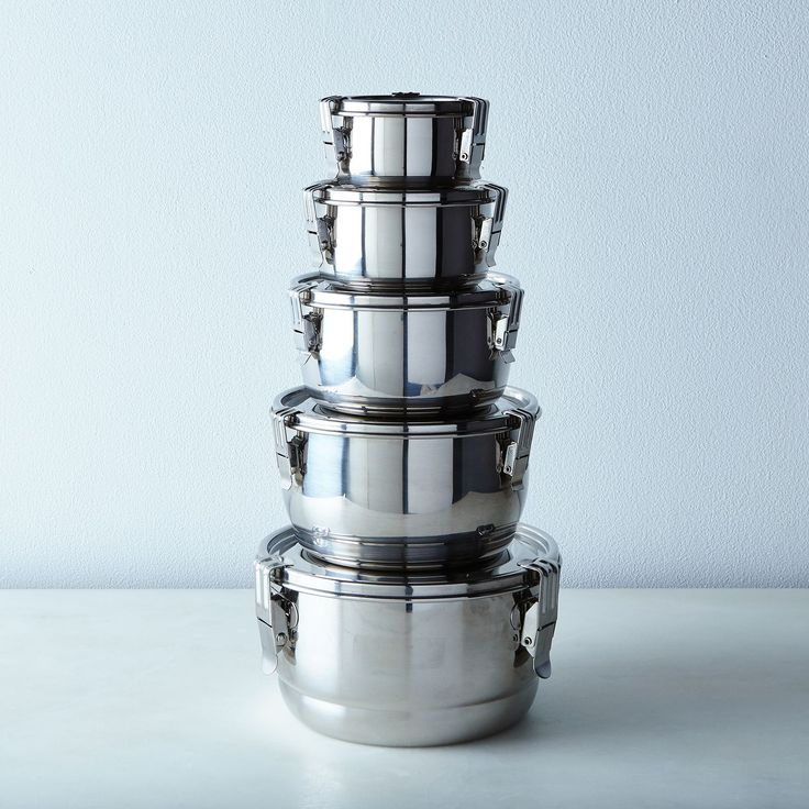 Airtight stainless steel storage container set