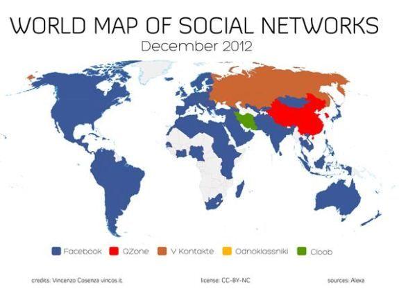 Les réseaux sociaux dans le monde