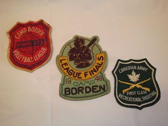 Vintage lot of 3 Collectible Patches Camp by OutrageousVintagious
