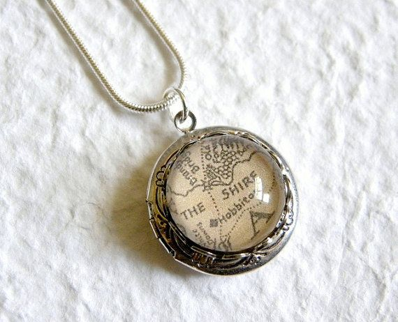Map of Middle Earth From Lord of The Rings Locket
