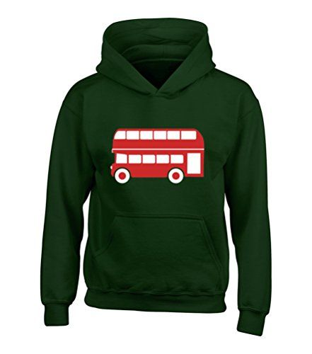 BOTTLE GREEN HOODIE Children's T-Shirt ''LONDON BUS ONLY' with Red & White print Edward Sinclair http://www.amazon.co.uk/dp/B00NGSB9QW/ref=cm_sw_r_pi_dp_NA7Rvb1FXFAP5