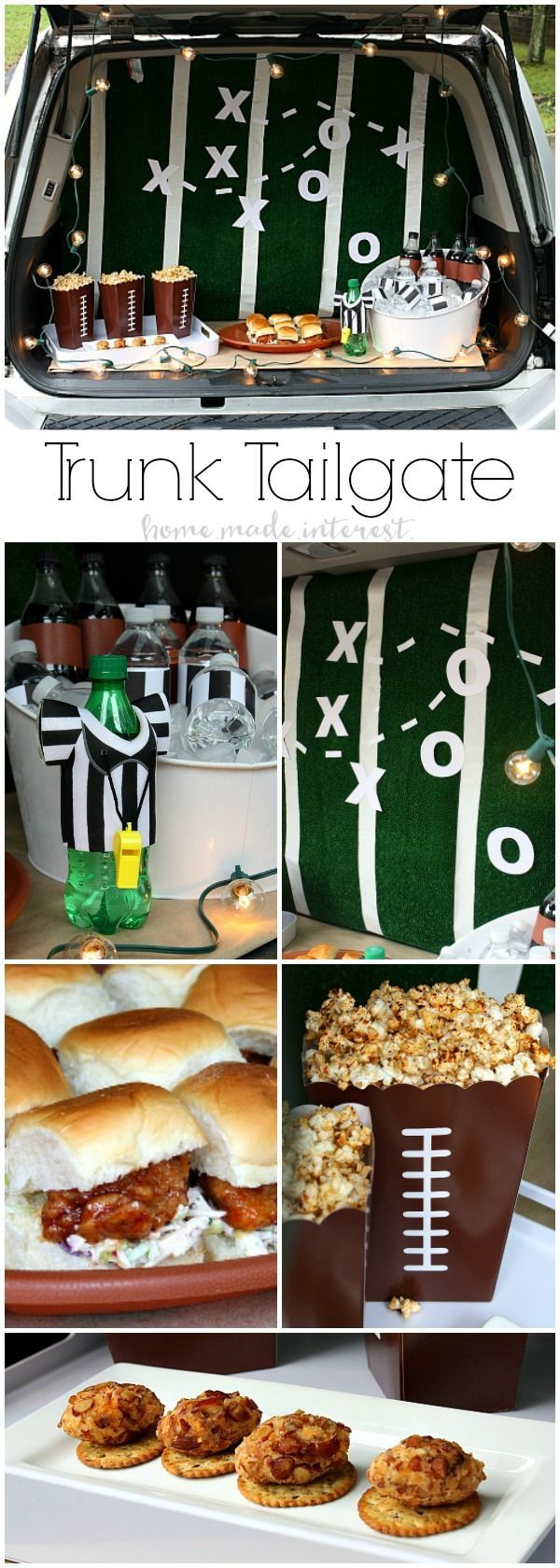 AD: I love tailgating during football season and setting up a fun and easy Trunk Tailgating party is always a good time. I decorate my trunk for game day and serve game day appetizers like honey bbq sliders, bacon cheese balls, and bbq popcorn! My tailgate party tutorial is full of easy game day party or tailgate recipes and ideas. #GameTimeHero