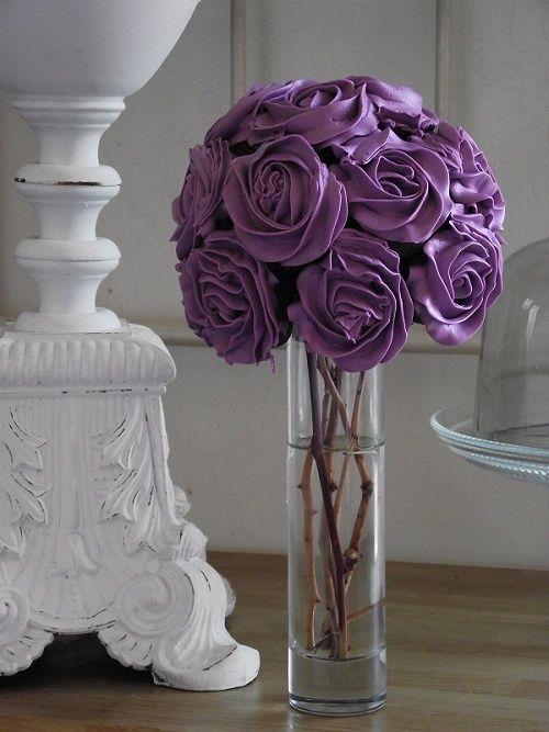 Purple cupcake bouquet.