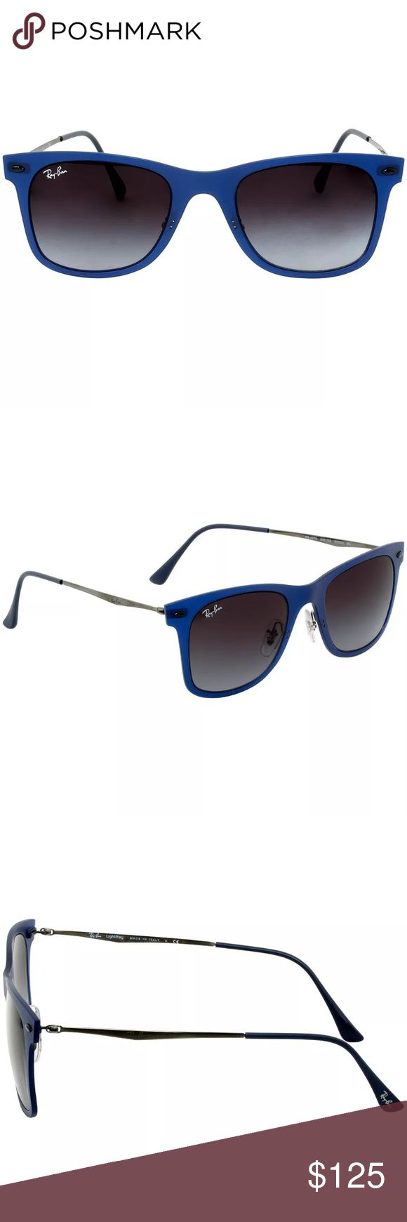 Authentic Ray ban wayfarer blue sunglasses Size 50. Gray lens Ray-Ban Accessories Sunglasses