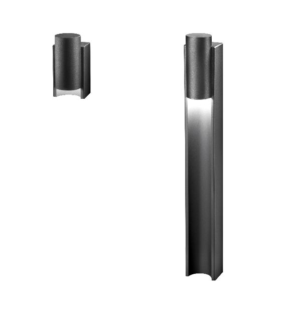 Architectural designed wall fittingand illuminating bollards from HESS: Padua