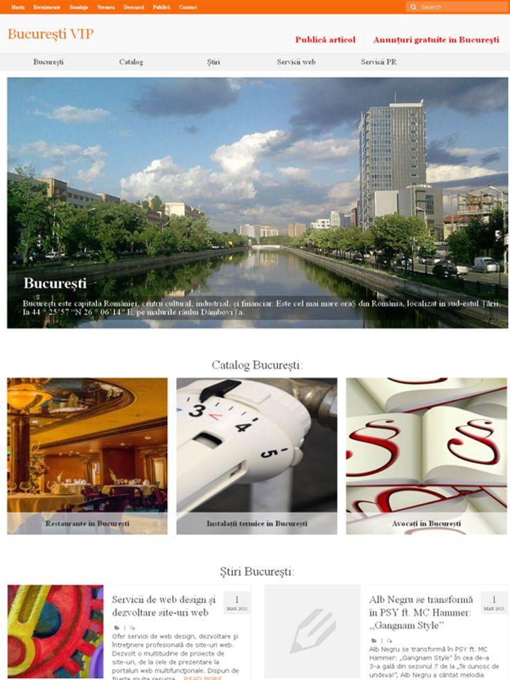 Bucureşti VIP  Ştiri şi informaţii din Bucureşti: afaceri, educaţie, arta, cultura, vedete.  http://www.bucurestivip.com/