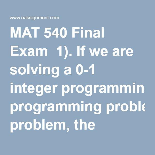 Mat 540 final