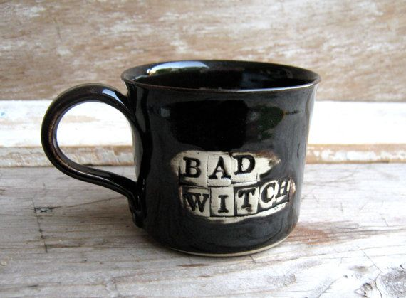 Bad Witch Mug Discounted Second by AntB on Etsy