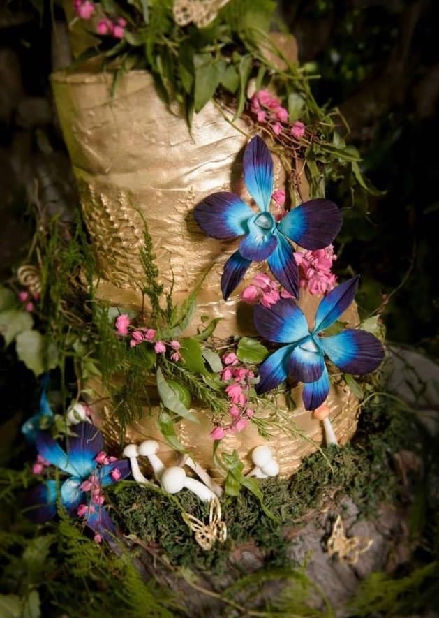Enchanted Forest Wedding Cake - Cake by Nessie - The Cake Witch