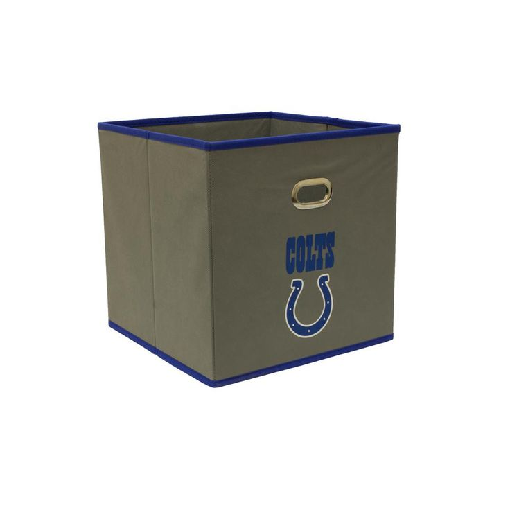 Indianapolis Colts NFL Store-Its 10-1/2 in. W x 10-1/2 in. H x 11 in. D Grey Fabric Drawer, Indianapolis Colts/Grey