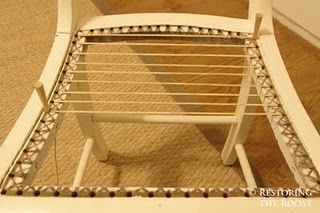 Complete tutorial on how to cane a chair. I have 4 French vintage dining chairs I need to do.