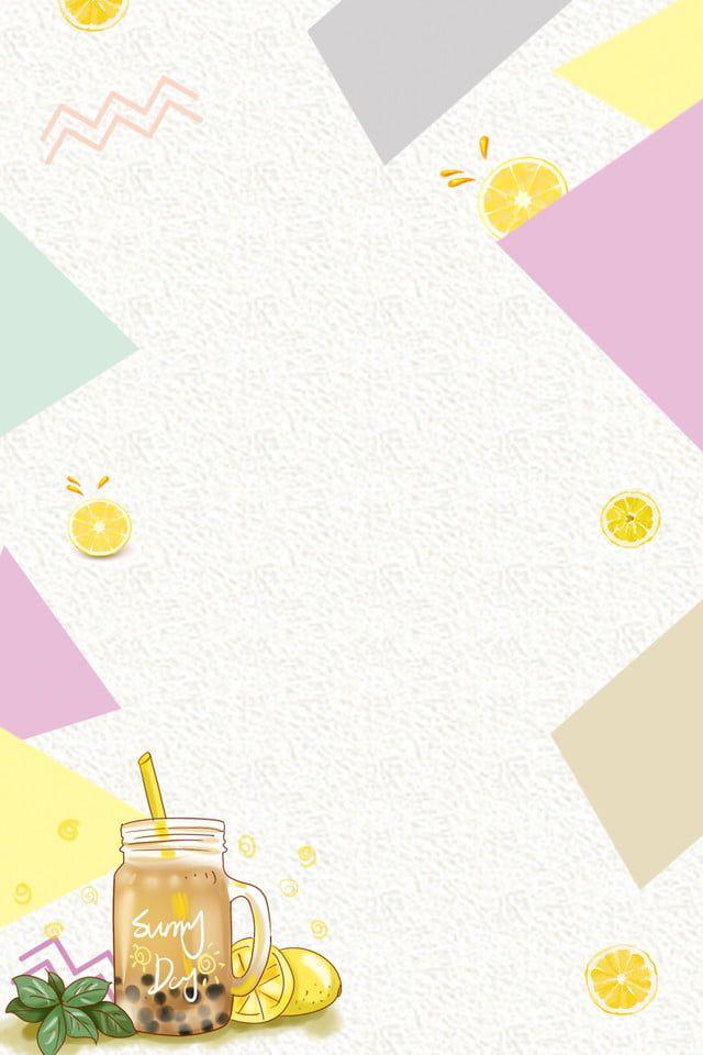 Milk Tea Shop Cold Drink Shop Price List Background Material Poster Minuman Desain Menu Minuman