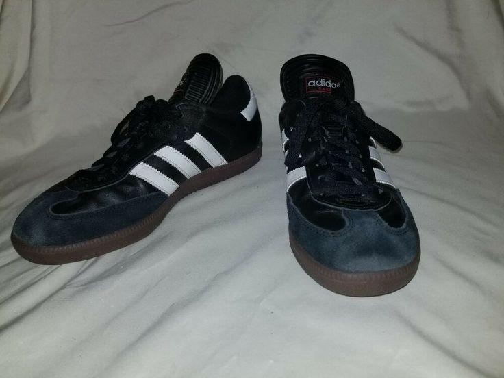 Mens Adidas Samba Classic Black Suede Leather Indoor Soccer