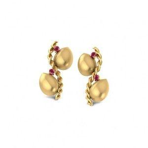 Double Twist Stud Earrings