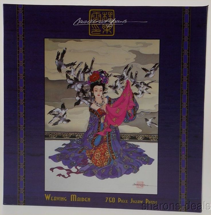 Weaving Maiden Exotic East Jigsaw Puzzle 750