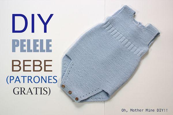 Tejer: Pelele de bebe DIY. Patrones gratis | Aprender manualidades es facilisimo.com