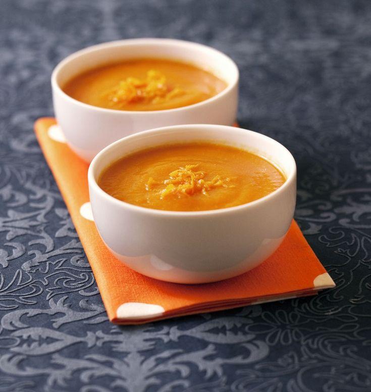 Velouté de potimarron à l'orange - les meilleures recettes de cuisine d'Ôdélices