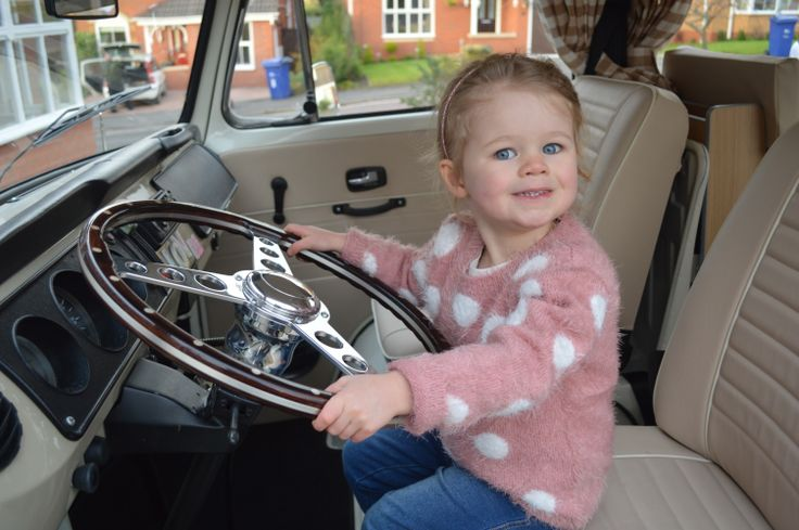 Our trainee driver gets behind the wheel