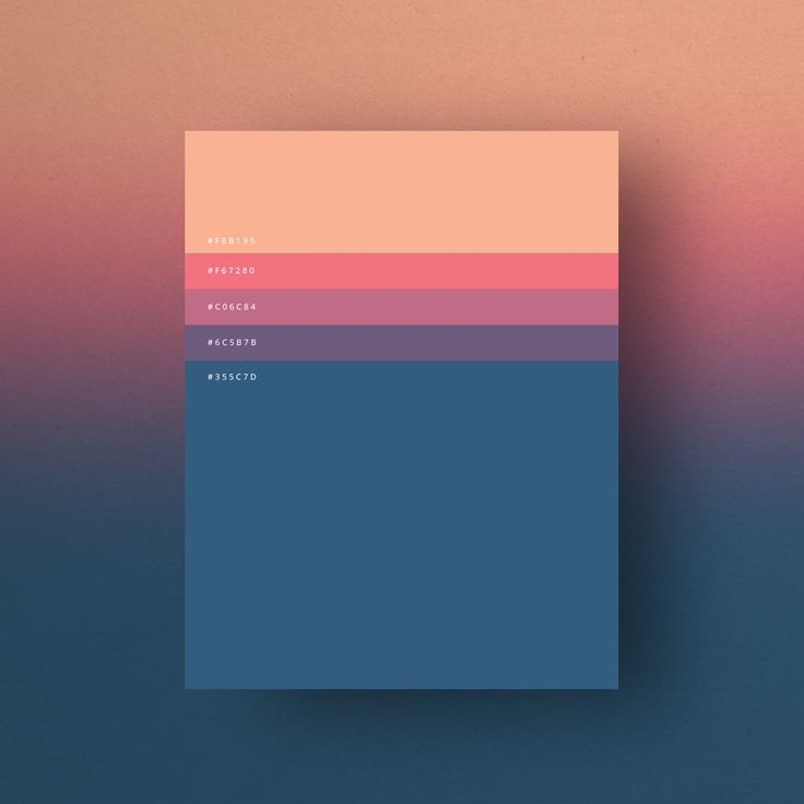 Minimalist Color Palettes 2015 on Behance