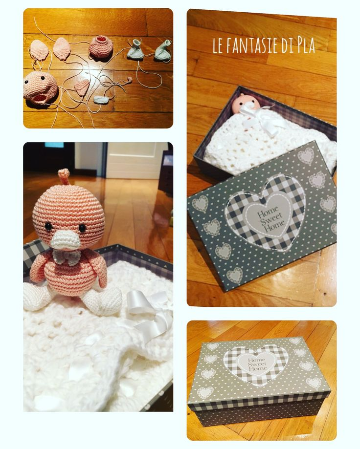 Per i nuovi arrivi #amigurumi #crochet #coperta #bedsheet #paperino #duck #copertina #handmade #fattoamano #pupazzo #baby #newborn #coming #photooftheday #pic #photo #like #crochetlover #cute #hecoamano #toy #kawaii #crocheting