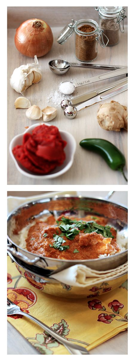 Healthy recipes: Indian Butter Chicken with Basmati- SO delicious!