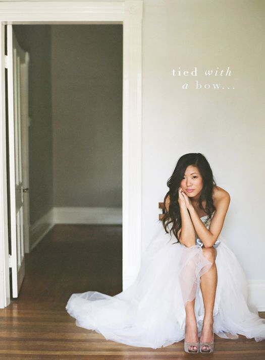 There's something romantic and sexy about having your hair down & curled softly on your wedding day.     - layered wavy side-part Asian hair