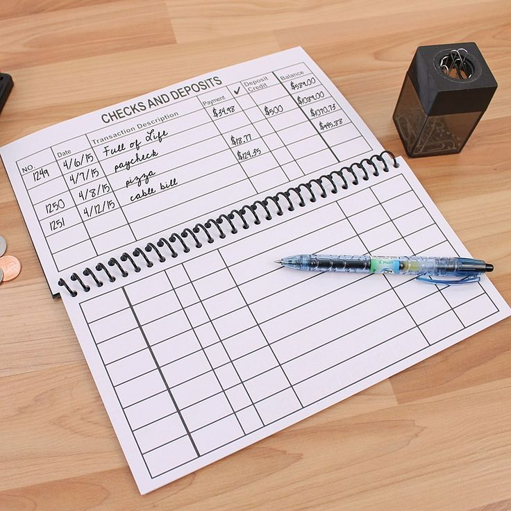 Best  Check Register Ideas On   Printable Check