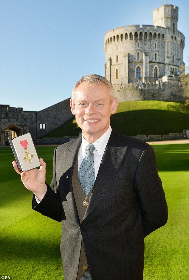 Men Behaving Badly star: Martin Clunes, meanwhile, received an Officer of the Order of the British Empire (OBE) for his services to drama, charity and the community in Dorset